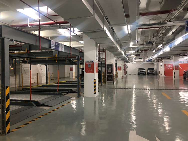 双层机械车库提高空间利用率